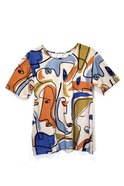 T-shirt Cantão Local Cubista L73