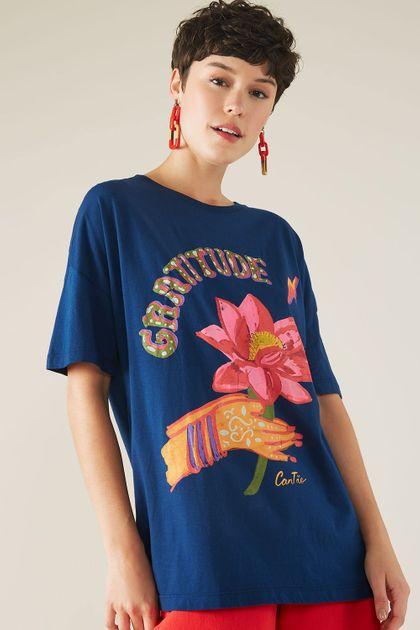 T-shirt Cantão Local Gratitude - Azul