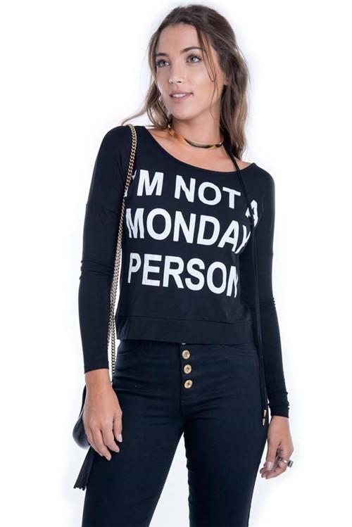 T-shirt com Detalhe Trançado