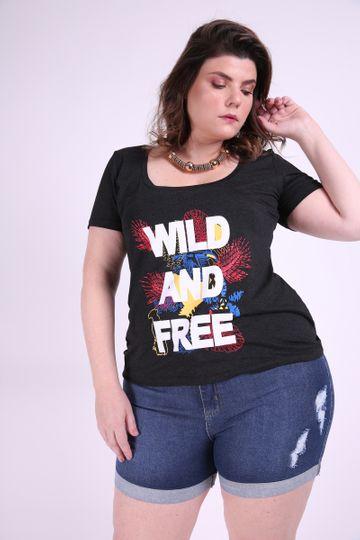 T-shirt com Estampa Plus Size EX