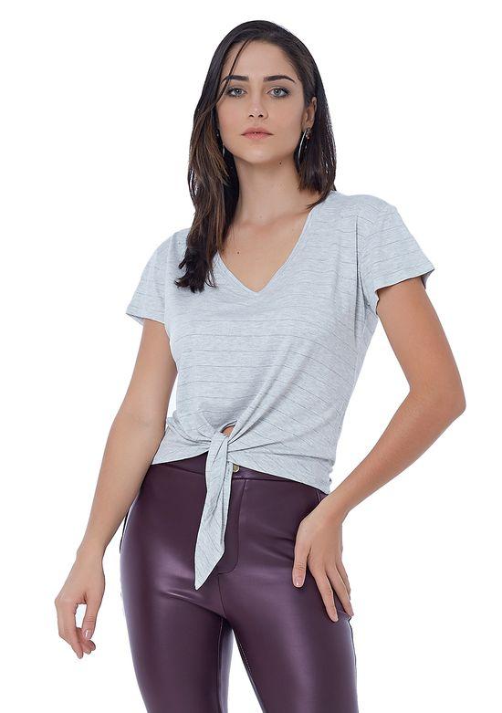T-Shirt de Malha com Lurex