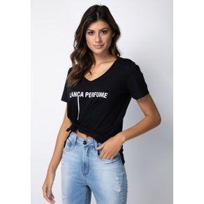 T-shirt Decote V Preto G