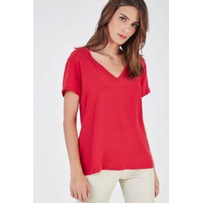 T-Shirt Decote V Vermelho Patrol - 38