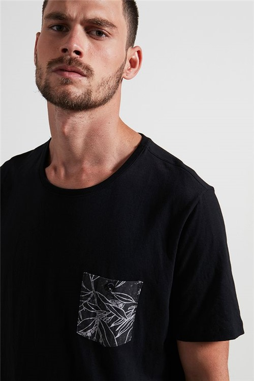 T-shirt Desert Pocket Preto P