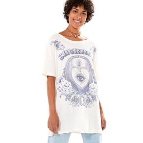 T-Shirt Desfibrada Silk Off White - P