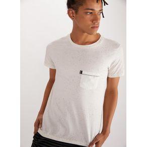 T-shirt Esp Respingos com Bolso Branco P