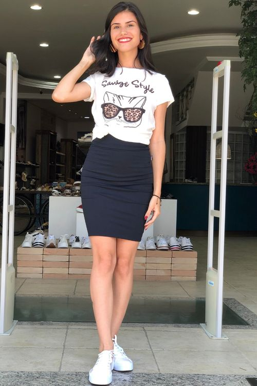 T-shirt Estampa Savage Stile Viscolycra - P