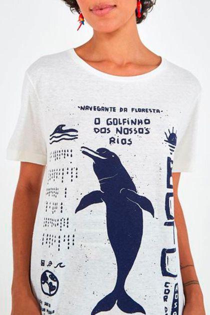 T-shirt Farm Desfibrada Boto