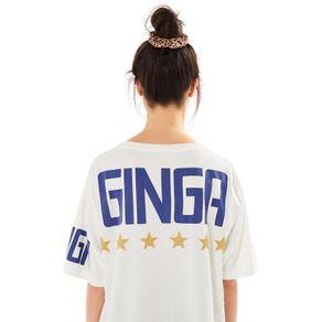 T Shirt Fenda Ginga Off White - P