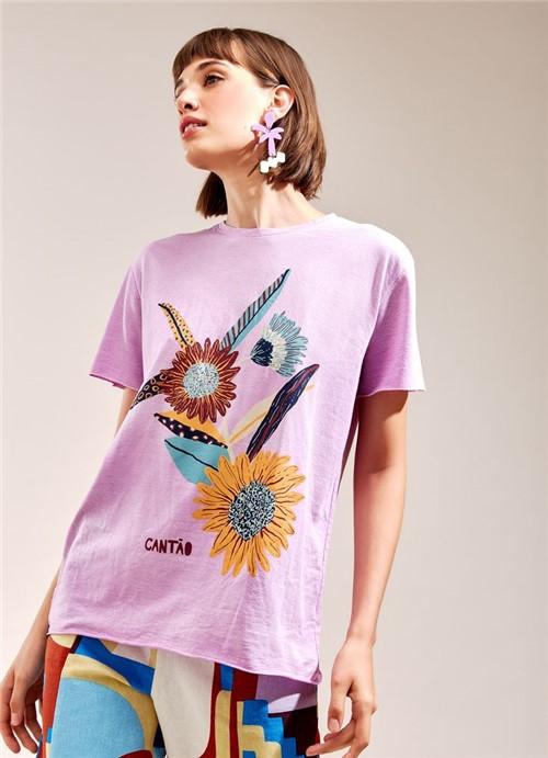 T-Shirt Flores LILÁS G