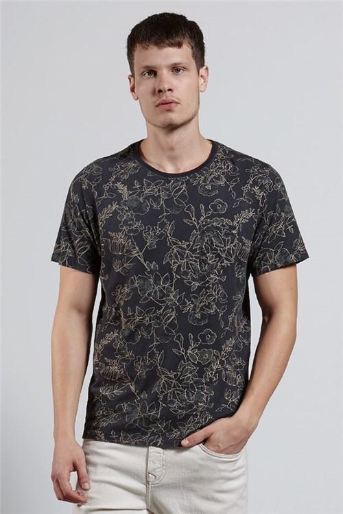 T-shirt Folhas Lines Dark T-shirt Folhas Line Dark Verde G