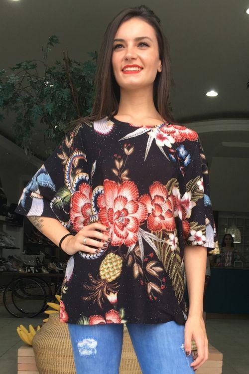 T-shirt Gode Floral Yuk Farm - P