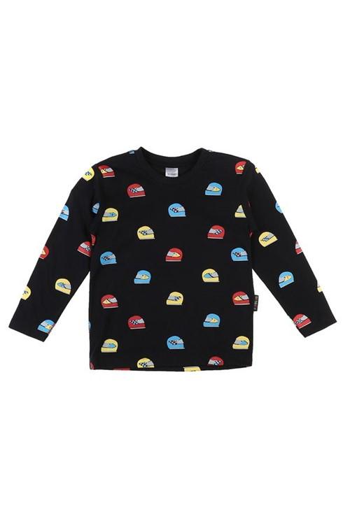 T-shirt Infantil Capacete 02 - Preto