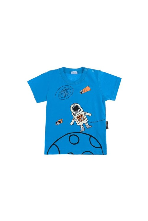 T-shirt Bebê na Lua M - Azul