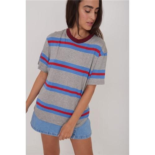 T-Shirt Listrada Listrado Azul P