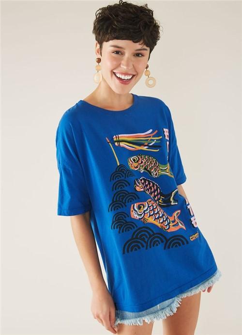 T-shirt Local Boa Sorte Azul M