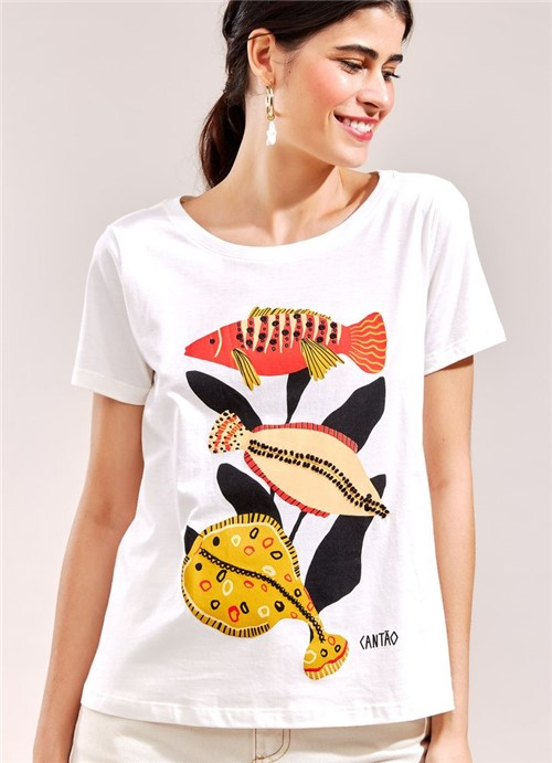 T-Shirt Local Sea BRANCO G