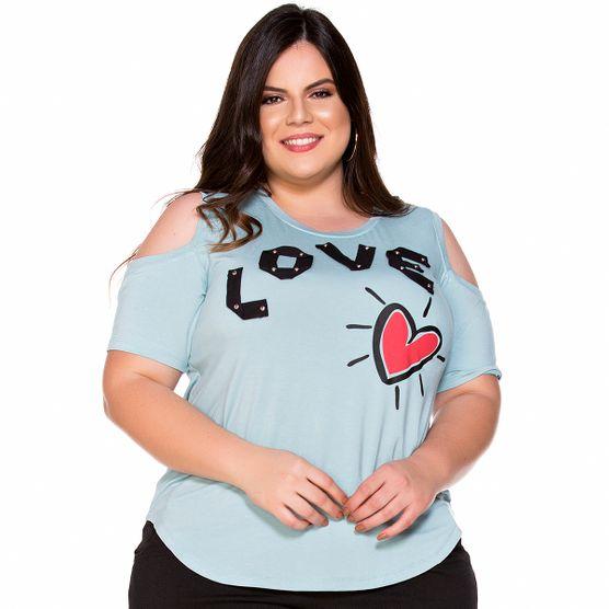 T-Shirt Love com Taxas Plus Size M