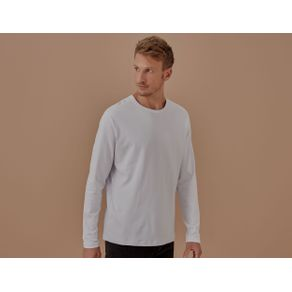 T-Shirt Ml Suedi Pima Branco - P