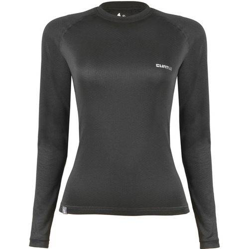 T-shirt ML Underwer Feminina ThermoSkin Curtlo - PRETA - G