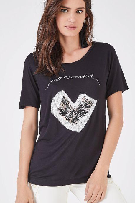 T-Shirt Mona Mour Preto - P