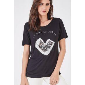 T-Shirt Mona Mour Preto - M