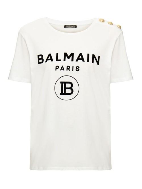 T-Shirt Monogram de Algodão Branca Tamanho 42