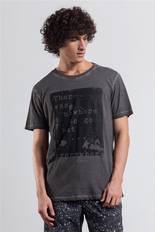 T-shirt Now Here Preto P