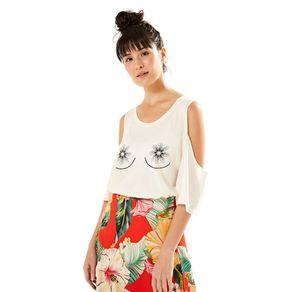 T-Shirt Outubro Amor Off White - M