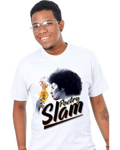 T-shirt Poetry Slam Branca