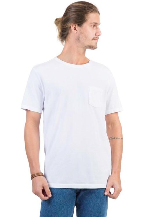 T-Shirt Premium com Bolso Lisa Branco BRANCO/G