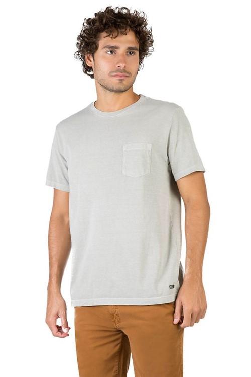 T-Shirt Premium com Bolso Lisa Cinza CINZA/P