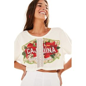 T-Shirt Renda Silk Off White - P