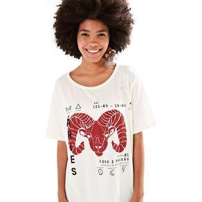 T-Shirt Silk Áries Off White - G