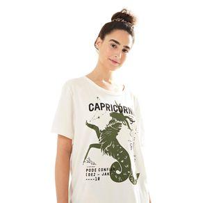 T-Shirt Silk Capricornio Off White - M