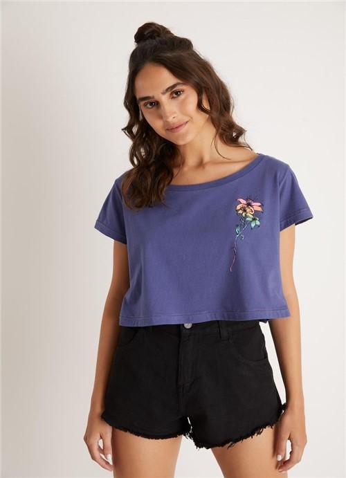 T Shirt Silk Escondido Azul Marinho G
