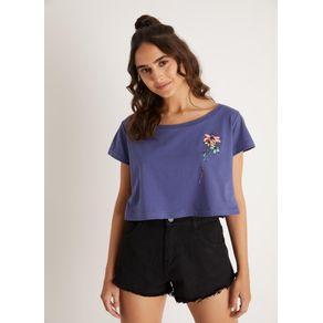 T Shirt Silk Escondido Azul Marinho M