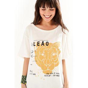 T-Shirt Silk Leão Off White - G