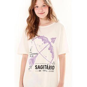 T-Shirt Silk Sagitário. Off White - M