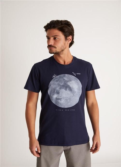 T-shirt Silk Vira Noite Azul Marinho G