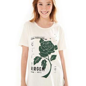 T-Shirt Silk Virgem Off White - M
