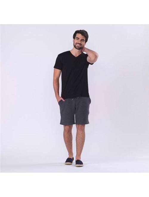 T-shirt Skin Decote V - Preto - P