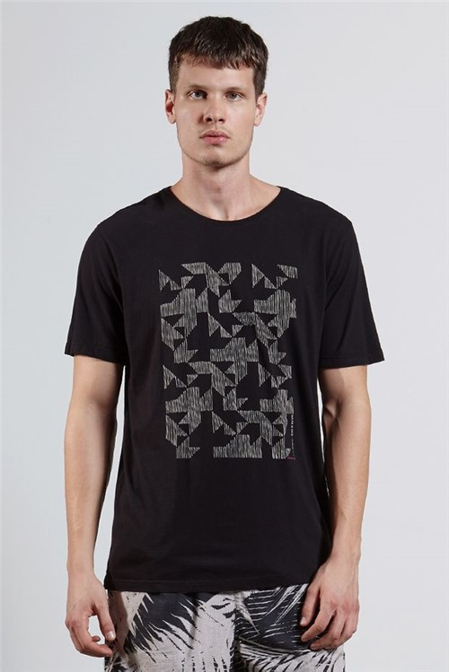 T-shirt Square Preto P