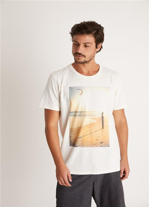 T-shirt Tinturada Silk Beach Board Branco G