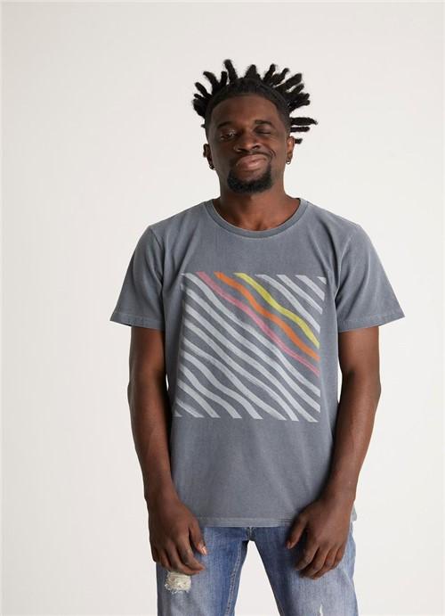 T-shirt Tinturada Silk Hype Diagonal Chumbo G
