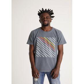 T-shirt Tinturada Silk Hype Diagonal Chumbo Xgg