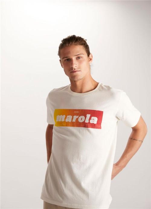 T-shirt Tinturada Silk Layout Marola Branco Gg