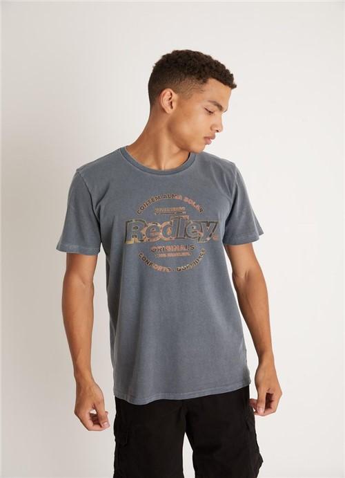 T-shirt Tinturada Silk Originals Flor Chumbo G