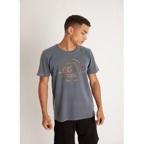 T-shirt Tinturada Silk Originals Flor Chumbo Gg