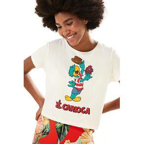 T-Shirt Zé Carioca Namorado Off White - P